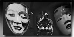 3 máscaras (seguicollar) Tags: imagencreativa photomanipulación art arte artecreativo artedigital virginiaseguí máscara japonesas caras faces rostros muecas nariz ojos boca monocromo blancoynegro blackandwhite