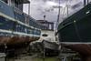 A bevy of boats (Tony Tomlin) Tags: crescentbeach britishcolumbia canada marina boatyard yachts tailspin islandprince