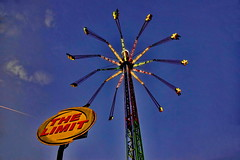 The Limit (gerard eder) Tags: world travel reise viajes europa europe españa spain spanien städte street stadtlandschaft streetlife city ciudades cityscape cityview valencia fun funfair kirmes feria bluehour evening abend atardecer outdoor carrusel