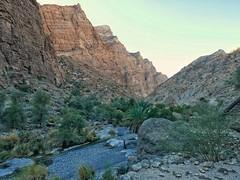 Walking through Wadi Muadin.