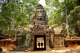 Ib photography.... Exploring the temples in siem reap Cambodia....these strangers walked past just at the right time and finished the picture beautifully