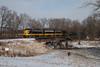 Antique Locomotives and Antique Bridges (Jake Branson) Tags: railroad keokuk junction railway emd fp9 bridge spoon river smithfield il illinois seville snow
