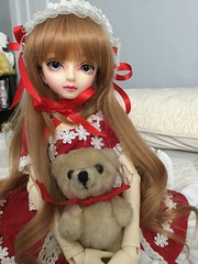 Sora & Barney Bear (Josie&theKILLER_DOLLS) Tags: volks super dollfie cute sora bjd ball jointed doll