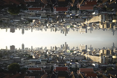 Parallel Dimension (fredMin) Tags: photoshop building cityscape photo montage city skyscraper skyline travel urban bangkok thailand fujifilm xt1
