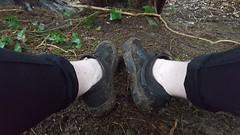 Sockless Vans Old Skool Mud Walk (That Sneaker Lover) Tags: feet sockless vans black mono emo cool sweaty smelly hard mud muddy walk no socks bad nasty shoes