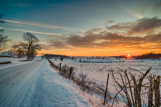 Snowy Sunset #4