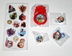 star wars the last jedi christmas stocking with party mix stickers keyring eraser badge and shooting disc park avenue 2017 d (tjparkside) Tags: star wars last jedi park avenue xmas christmas stocking toys stickers sticker sheet 2017 poe dameron rey lightsaber finn party mix disney lucasfilm chewbacca bb8 bb 8 astromech keyring first order 1st stormtrooper executioner eraser rubber pencil badge clip captain phasma blaster rifle shooting disc disk launcher droid droids kylo ren rebels reistance training praetorian guard guards with
