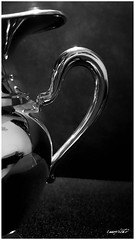 coppa o brocca, cup or pitcher (Massimo Vitellino) Tags: cup pitcher blackandwhite hdr abstract contrast conceptual indoor lights shadows perspective detail metal iron silver noperson