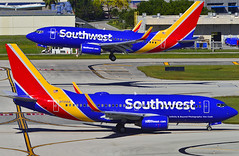 Two Times the LUV (Infinity & Beyond Photography) Tags: southwest airlines boeing 737 aircraft airplanes planes ft fort lauderdale fll airport