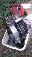 Engine rebuild (World of Tim) Tags: mz ts ts250 nva motorbike motorcycle bike east german rebuild restore two stroke build clean pwetrol ts2501