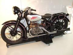PUCH 800 - 1936 (John Steam) Tags: motorcycle motorbike motorrad oldtimer ausstellung exposition ferdinand porsche erlebniswelt fahrtraum puch 800 viertakt weitwinkel v 170 grad vintage 1936