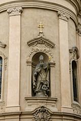 2017Danube-9594 (Cache Scouter) Tags: 2017 cz czechrepublic danube oldtownsquare prague stnicholaschurch statue arch cherub columns cross cruise niche saint czechia