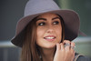 Beauty with rings (Stuart Mac) Tags: beauty attractive woman portrait candid street hat eyes face style rings smile d750 135mm