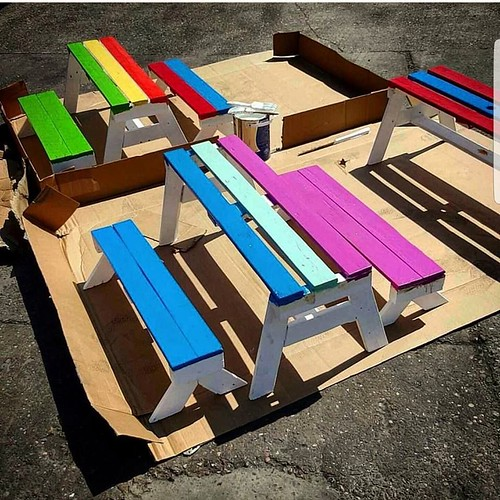 Childrens Picnic Table and Bench Set