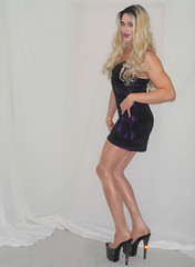 My new vid's up! (queen.catch) Tags: catchqueenyoutube crossdresser feminization pantyhose danskin video heels minidress wig ladies wrestling makeup dragqueen ladyboy sissy shemale shinylycra