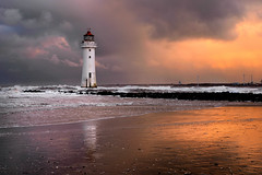 Perch rock storm of colour (PentlandPirate of the North) Tags: perchrocklighthouse liverpool merseyside wirral dawn storm nofilters