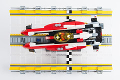 In the Future there will be Racing (roliathBrickworx) Tags: lego moc scifi racing ferrari antigravity stickers future afol wipeout carbon