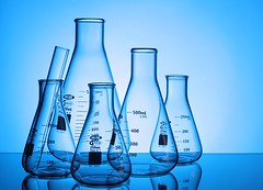 Scientific Glass (Karen_Chappell) Tags: glass science blue flask product stilllife
