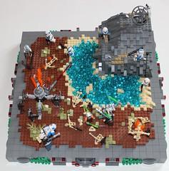 Secret Mountain (BrickAmazing) Tags: brickamazing starwars lego clone droid eau water terre mock jedi 501