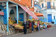 Street of Larache Morocco_2537 (ichauvel) Tags: larache rue street streetphotography photographiederue marché market fruits légumes vegetables magasin shop hommes men femmes women acheter buying magreb maroc morocco afriquedunord northafrica afrique africa exterieur outside voyage travel bananes bananas oranges citrons lemons getty