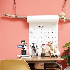 Branch Paper Roll Hanger (Heath & the B.L.T. boys) Tags: calendar office desk scissors sticks