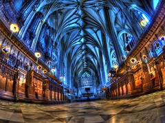 The Funky Cathedral (RS400) Tags: bristol cathedral inside hdr wow cool wicked southwest religon edit olympus fish eye lens fisheye uk travel photography blue building art