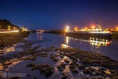 Blue hour at Drogheda port (mythicalireland) Tags: ship boat port river boyne drogheda tempest light twilight blue hour