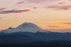 Sunset Over Rainier (csquags) Tags: sunset seattle rainier mountain washington pnw explorewashington sunrise sun outdoors travel hiking hike nature pnwonderland pnwlife pacificnorthwest naturephotography people sky