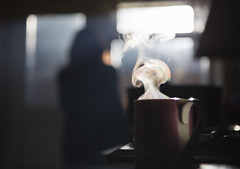 moments like this (matthewheptinstall) Tags: morning coffee steam silhouette window disconnect cup poetry poetical blur