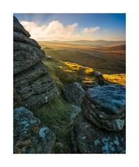 Brat Tor, Dartmoor, Devon, UK (SimonHMiles) Tags: dartmoor moor heath upland landscape sunrise dawn sky cloud sun rock granite tor