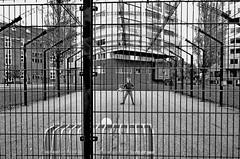 strikerscage (eyeamsterdam) Tags: striker cage soccer talent young goal score lloydhotel easterndocklands amsterdam blackwhite streetphotography urban