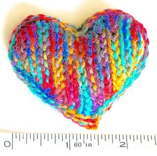 Slip Stitch Heart in Sock Yarn