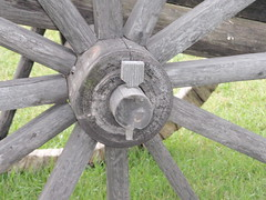 Spokes .... (Mr. Happy Face - Peace :)) Tags: cart art2018 wheel spokes vintage canadiana wooden pin cans2s