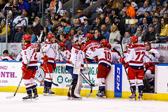 "Kansas City Mavericks vs. Allen Americans, February 24, 2018, Silverstein Eye Centers Arena, Independence, Missouri.  Photo: © John Howe / Howe Creative Photography, all rights reserved 2018 • <a style=""font-size:0.8em;"" href=""http://www.flickr.com/photos/134016632@N02/39790820144/"" target=""_blank"">View on Flickr</a>"