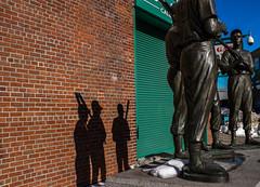 Teammates Shadows (Bingo3362) Tags: fenway statues yaz boston fenwaypark massachusetts tedwilliams