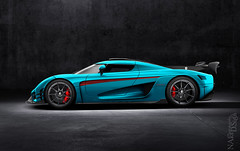 Diamond Regera (Nike_747) Tags: naksphotographydsign koenigsegg regera hybrid supercar hypercar super hyper car sportscar sport class exotic rare luxury color auto limited edition rs one1 tiffanyblue turquoise red diamond brilliant crystal black dark blue carbon fiber box garage asphalt concrete floor rock wall light hard shadow profile wing racing roadlegal kers twinturbo v8 targa coupe roadster convertible cabrio