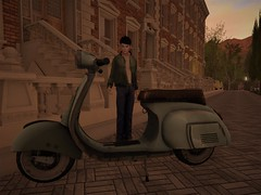 My first scooter (Mordred!) Tags: mod secondlife school scooter boy vespa street townhouse flat bike tree teen vintage sl smile london lad blue roleplay rp adventure avatar alone virtualworld outdoors outside innocent imagination youth trouble quiet