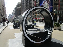 The LOOP Portable Zoetropes on Broadway NYC 7692 (Brechtbug) Tags: loop flip book style zoetropes broadway nyc optical animation with sound that you operate by moving roll bar back forth like gym equipment animations film motion picture movie illusion giant wheel wheels futuristic past nickelodeon art sculpture interactive outdoors loops hand operated drawn drawings play ground portable big zoetrope pop up ready player one billboard