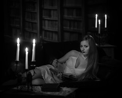850_7588-Edit-2 (TomPitta) Tags: zoe library candlestick candles candlelight girl woman