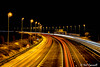 27/365 light trails (crezzy1976) Tags: nikon d3300 nikkor1855 outdoors nightphotography afterdarkphotography lighttrails motorway road lights rushed 365 365challenge2018 day27