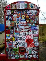 stickercombo (wojofoto) Tags: amsterdam graffiti streetart netherland nederland holland ndsm wojofoto wolfgangjosten wojo stickers sticker stickercombo stickerart