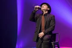 En la imagen se puede ver un momento del concierto de Zenet en el Ermua Antzokia.  Fotografía cedida por el fotógrafo local Óscar Blanco Gutiérrez