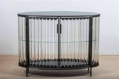 Christophe Côme > Beautiful STEEL + Glass Cylinder Furniture
