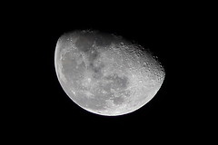 Moon (Rollii) Tags: moon luna lunar space phase craters
