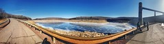Francis E. Walter Dam Panorama, 2018.01.26 (Aaron Glenn Campbell) Tags: bearcreek reservoir dam embankmentdam francisewalterdam bearcreektownship luzernecounty nepa pennsylvania outdoors optoutside pano panorama appleiphone iphone7plus uncommonimaginggroup photoadventure sunny winter ice frozen roadway snapseed madewithfaded cameraapp