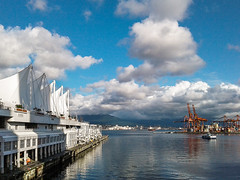 20180122_141118-2 (mikhs1) Tags: vancouver harbor harbourfront harborfront harbour bc britishcolumbia canada samsung android phone smartphone water sails street city cityscape cloud clouds sky skies skyscape building architecture sun sunny blue shadow color colour