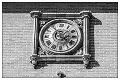 Time goes by (Miguel Angel Prieto Ciudad) Tags: clock art townhall architecture black white blancoynegro monochrome spain sony street sonyalpha mirrorless artist spanish móstoles madrid ngc sonyalphadslr