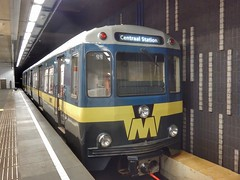 Metro type M (sander_sloots) Tags: metro subway set rotterdam underground typem railcar werkspoor 50jaarmetrorotterdam blaak station metrostel emmertje ret meteenteringgangrotterdamonderdoor