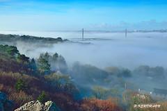 Le pont de l'Iroise depuis le rocher de l'Impératrice (pascalkerdraon) Tags: bretagne brittany finistere brest ville pont iroise brouillard elorn rade