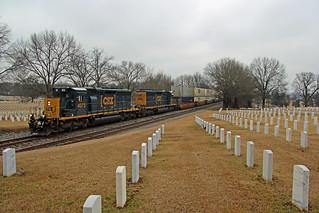 CSX 4073, Q029, Nashville Cemetery, Madison, TN, 02-07-18